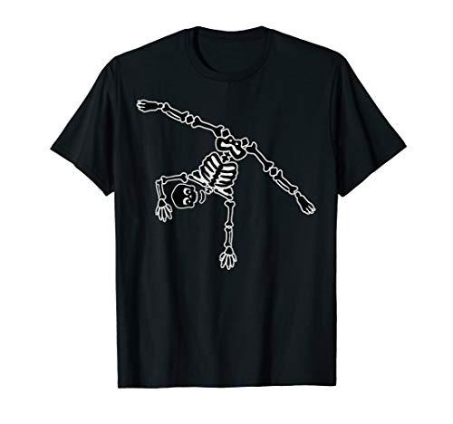 Skeleton Gymnastics Shirt | Funny Great Acrobats Tee Gift ()