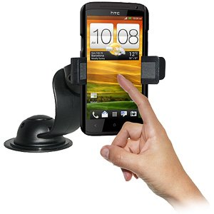Retail Packaging Amzer AMZ93824 Car Mount and Case System for HTC One X Black