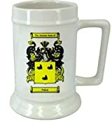 Pallett Family Crest Stein / Pallett Coat of Arms Stein