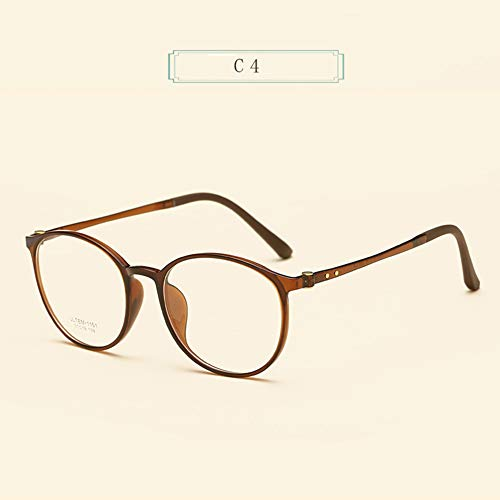 CAOXN Classic Round Frame Men's Anti-Blue Light Glasses, Ladies Ultra Light TR90 Fashion HD Anti-Radiation Reading Glasses - Anti-Fatigue give Parents The Best Gift +1.0 to +3.0,Brown,+1.5
