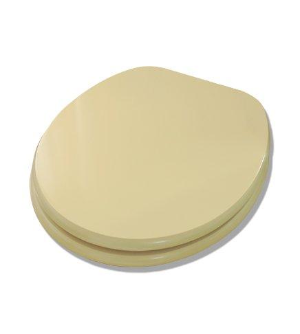 Coprivaso copriwater sedile tavoletta legno in mdf, Universale, colore champagne Arredobagnoecucine