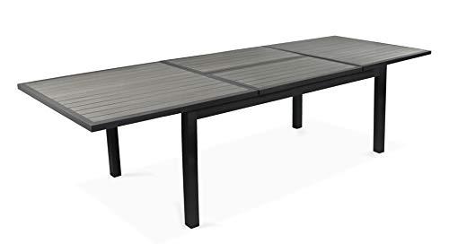 Oviala Table de Jardin Extensible rallonge Papillon Aluminium ...