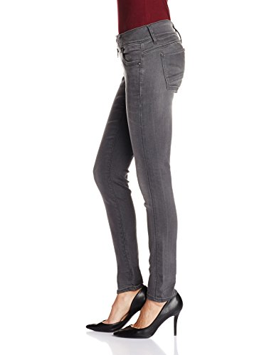 G-STAR RAW Lynn Zip Mid Skinny Wmn, Azul para Mujer Grey (Medium Aged 6132)