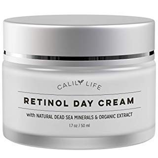 Calily Life Organic Retinol Cream Face and Eye Moisturizer Premium Treatment for Fine Lines and...