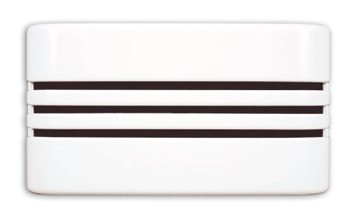Heath Zenith 57/M Wired Door Chime with Decorative Linear Cover, White (White Bell Westminster)