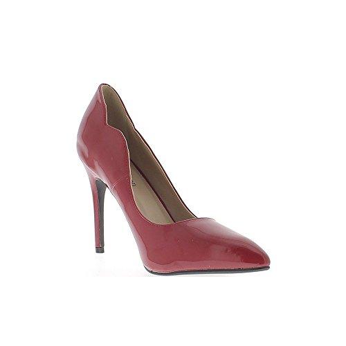Chaussmoi Pompe 5cm Rosso Tagliente Estremità Della 10 Stiletto Vernice qxfzWw7xag