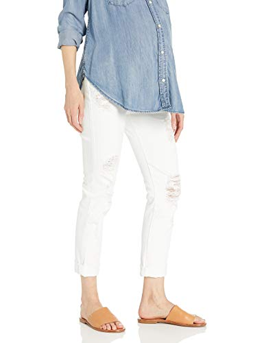 James-Jeans-Womens-Neo-Beau-Under-Belly-Maternity-Boyfriend-in-Destroyed-White
