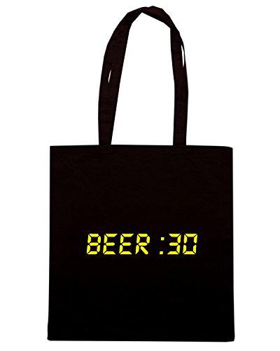 T-Shirtshock - Bolsa para la compra FUN0744 beer 30 Negro