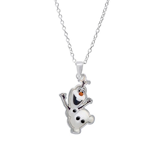 Finecraft Disney's Olaf Snowman Pendant Necklace in Sterling Silver-Plated (Sterling Silver Snowman)