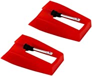 LUTER 2 Pcs Record Player Needle Turntable Needles Stylus Player Needle Replacement Accessories for Vinyl Reco