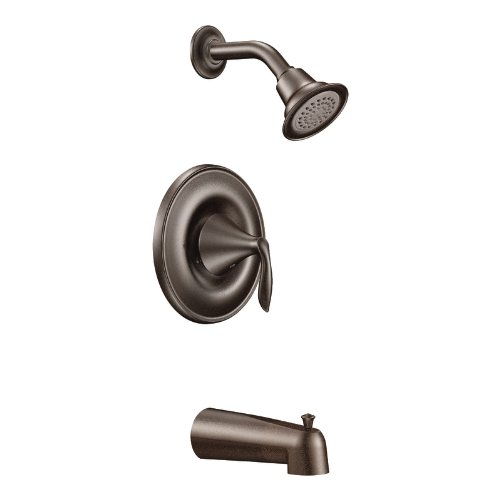 Moen T2133ORB Eva Posi-Temp Tub and Shower Trim Kit, Valve Required, Oil Rubbed Bronze (Moen Tub Shower Trim Kit Oil Rubbed Bronze)