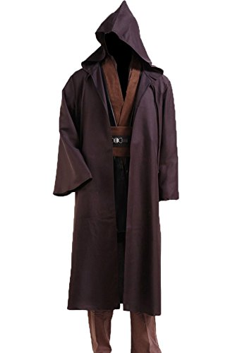 CosplaySky Star Wars Jedi Robe Costume Anakin Skywalker Halloween Outfit Medium