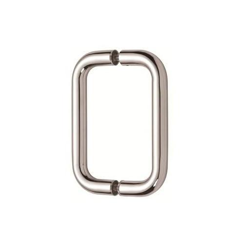 """well-wreapped Mont Hard 8"""" Back to Back Tubular Pull in Chrome Finish for Heavy Glass Frameless Shower Doors"""