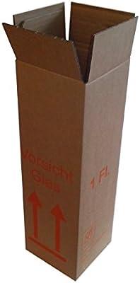 Botellas Cajas de Cartón 1er – La Autorización – Envío de vino para 0,75L Burdeos/Burdeos/Schlegel/mazo de Champán y 1: Amazon.es: Oficina y papelería