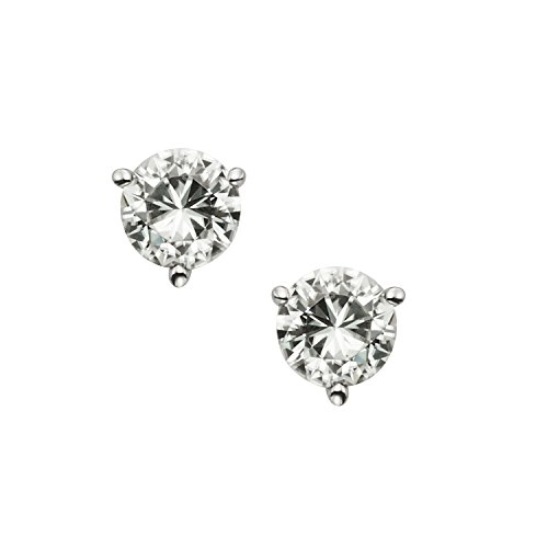 Forever Brilliant White Gold 5.0mm Moissanite Stud Earrings, 1.00cttw DEW by Charles & Colvard