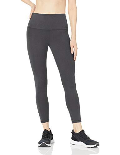 Amazon Essentials Women's Studio Sculpt High-Rise 7/8 Length Legging, Charcoal Heather, Large