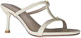 KNlang 女性のハーフポイント先のスティレットヒールの靴 (色 : ホワイト, サイズ : 38)