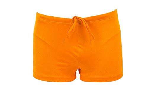 Just Cavalli Men Orange Square Cut Swim Shorts Lycra Beach Boxer Briefs Swimsuit L US EU - Boxers Just Cavalli Stretch