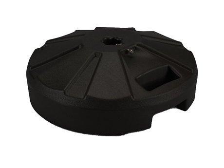 Fiberbuilt Umbrellas Plastic patio base 16 in. Dia x 9 in. oah in black
