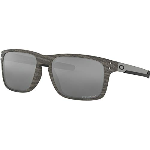Oakley Men's OO9384 Holbrook Mix Rectangular Sunglasses, Woodgrain/Prizm Black, 57 mm (Oakley Holbrook Metall)