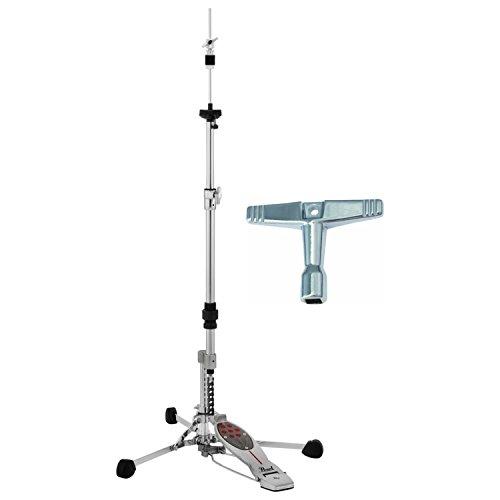 Pearl H150S Flat Base Swivel Legs Hi Hat Stand w/ Drum Key