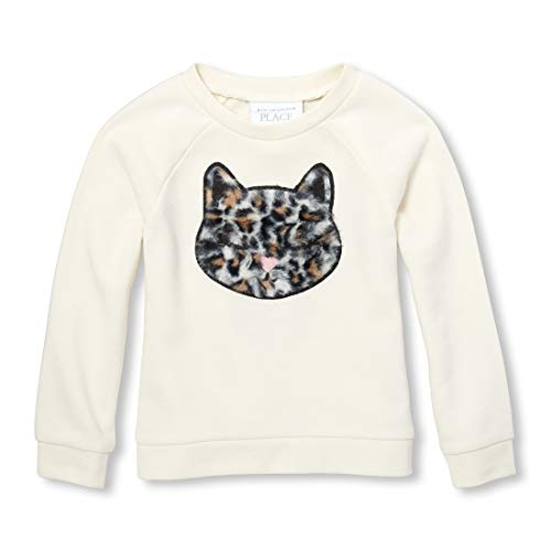 Girl Places Sweatshirt Kids - The Children's Place Baby Girls Icon Popover Sweater, Pearly Whites 3T