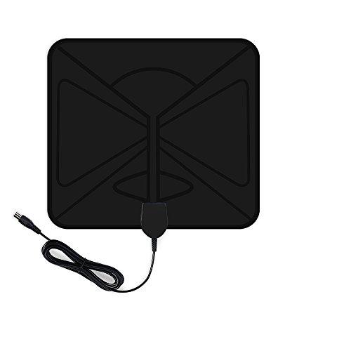 Aktive DVB-T Antenne, Vtin HDTV Fernseher-Antenne, Super dünne Digital Indoor Zimmerantenne Signal, mit 50 dB Verstärker & 10 Fuß Koaxial kabel Verstärker Signal für Ultra-Dünne, Digitale TV Tuner