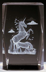 AIE 3D Laser Engraved Crystal Decoration for Home Unicorn AAA1502 3