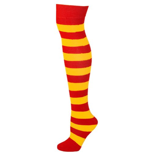 Striped Socks - Red/Gold (Red And Yellow Striped Tights)