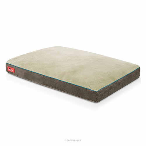 31gHrwp4ZnL - Brindle Soft Memory Foam Dog Bed with Removable Washable Cover