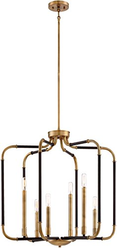 Minka Lavery Pendant Ceiling Lighting 4066-660 Liege, 6-Light 360 Watts, Aged Kinston Bronze