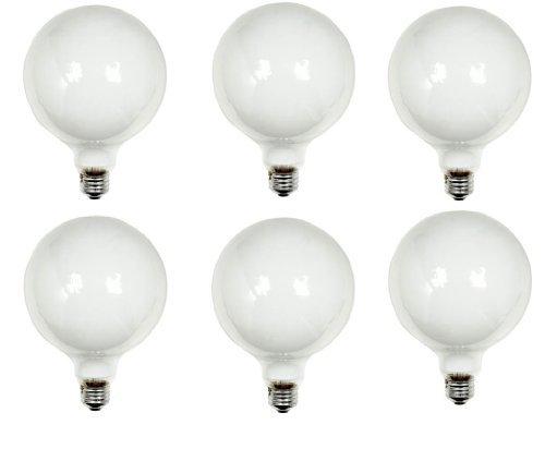 GE Lighting 49781 100-Watt G40 Bulb, 5-Inch Diameter, Soft White, 6 Pack [並行輸入品] B07CT141PM