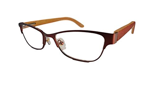 Foster Grant Green View Reading Glasses Caramel Wine Color Frames and Wooden Arms +1.25 Strength Eco Friendly