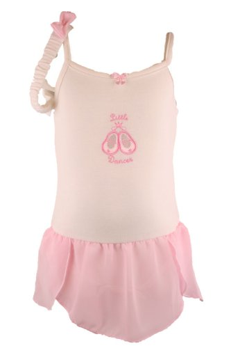 Bon Bebe Sleeveless White Baby Girls Ballerina Onesie Dress-0-3 Months (Ballerina Dress Onesie)