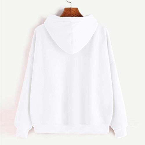 modèle manches couleur femmes Zhrui chaud petit Sweatshirt longues à blanc pour wnp7qcfv