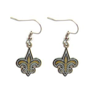NFL New Orleans Saints 48595061 Earrings Jewelry Card by WinCraft