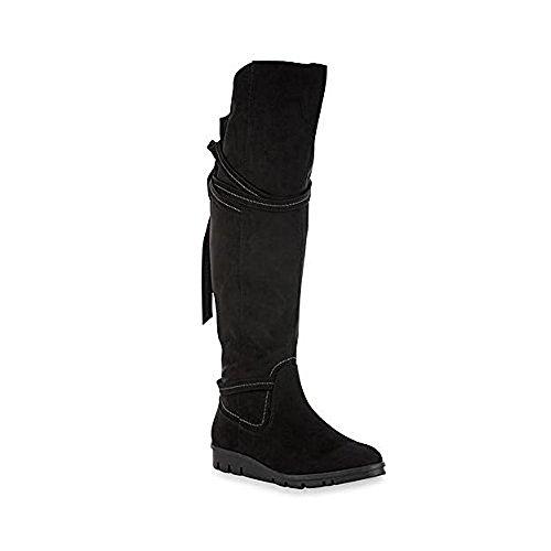 Edizioni Basiche Womens Rikki Black Knee-high Fashion Boot 7m