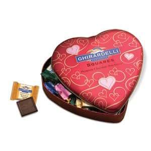 Ghirardelli Chocolate Valentine's Day Heart Gift Tin
