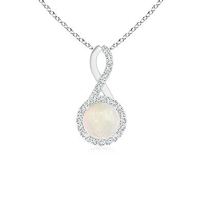 Angara Womens Opal Pendant Yellow Gold - October Birthstone Pendant R3TTJ