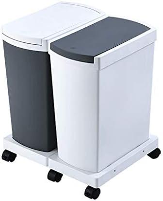 キッチンゴミ箱 プレスのファミリー分類コンテナキッチン二つの手は蓋規模でのごみ箱と組み合わせることができます ごみ収集 (サイズ : B2)