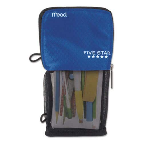 Mead Stand N Store Pencil Pouch, New Honey Comb Design (Cobalt Blue) by Mead Cambridge]()