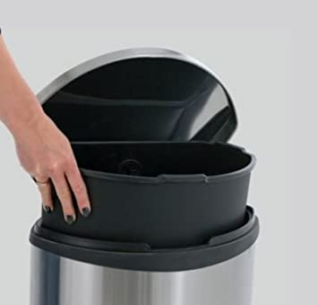 30 l, acero inoxidable Cubo de la basura con tapa Eko VB 921830 color mate