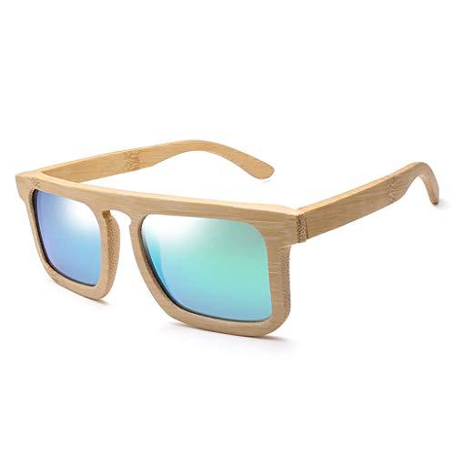 cddb7e456f Gafas sol Madera Unisex de Bambú Moda de La Personalidad de Bambú Gafas  Polarizadas Gafas de