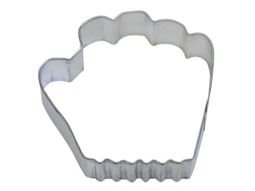 Cybrtrayd R and M Baseball Glove 3.75-Inch Cookie Cutter in Durable, Economical, Tinplated Steel