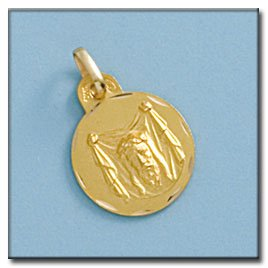 Médaille D'or 18kt Santa Fe 15mm