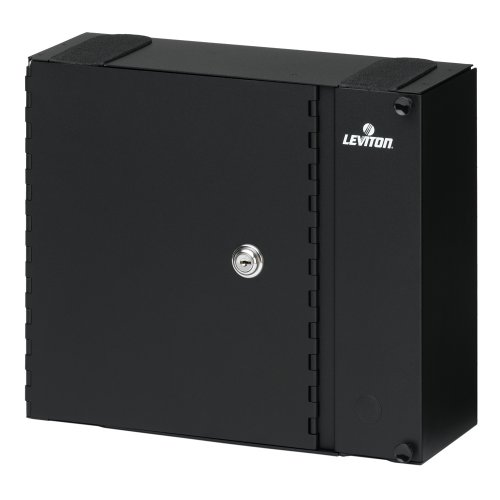 Leviton 5W320-N Medium Wall Mount Enclosure, Empty with Split Metal Door and One Lock/Key by Leviton