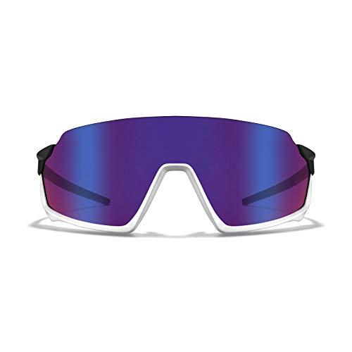 ROKA GP-1x Advanced Sports Performance Ultra Light Weight Sunglasses - Black | White Frame - HC Fusion Mirror Lens ()