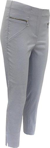 Plateado Pantalón Pantalón Robell Mujer Para Para Robell Mujer x1qO1USfw