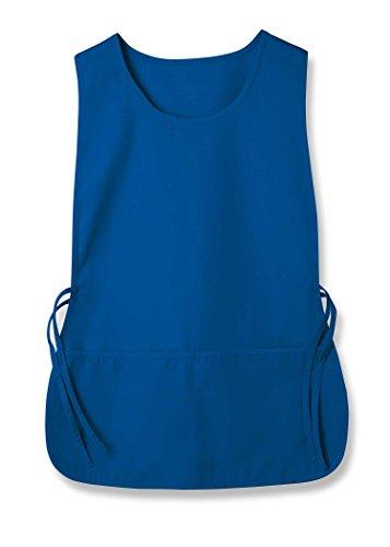 Sivvan Unisex Cobbler Apron - Adjustable Waist Ties, 2 Deep front pockets - S8700 - Royal Blue - X-Large