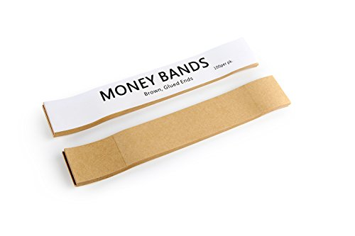 Natural Kraft Brown No Denomination Currency Band Bundles (100 Bands)